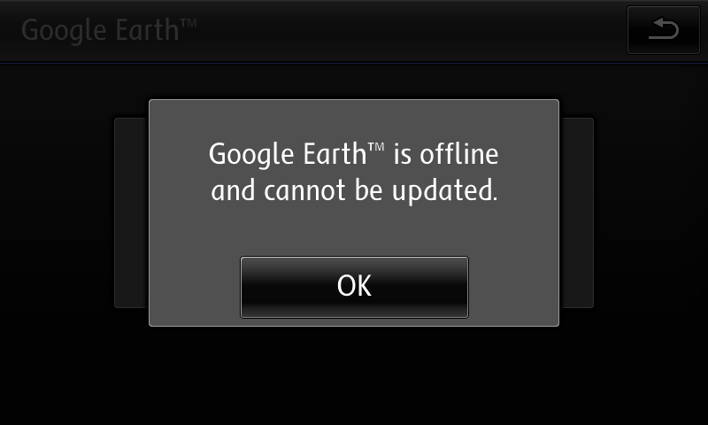 Google Earth is offile and cannot be updated