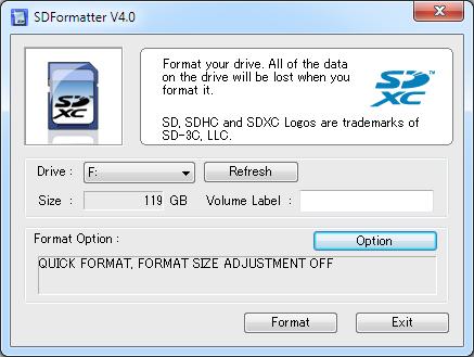 Audi MMI3G+ format SD to exFAT