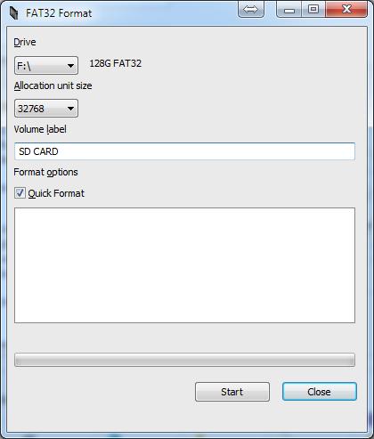Audi MMI3G+ format SD to FAT32