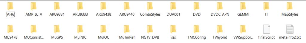 SD card contents - HN+_EU_VW_K0824
