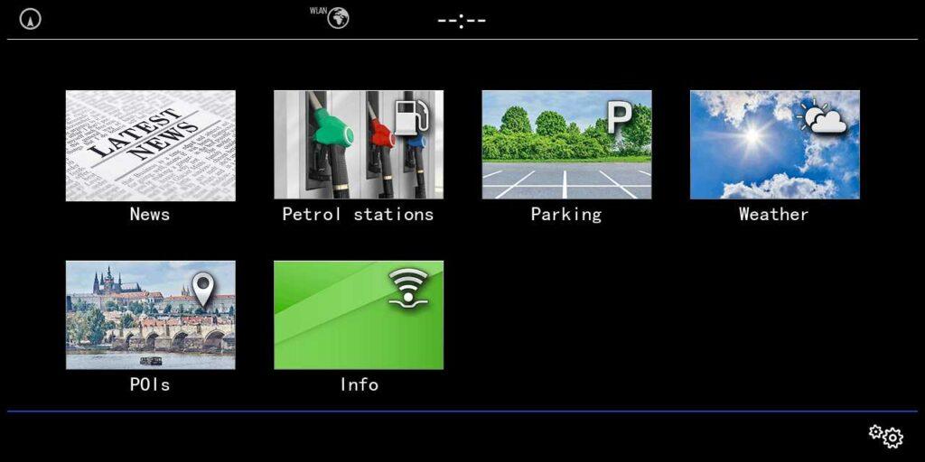 Volkswagen car-net - Main menu